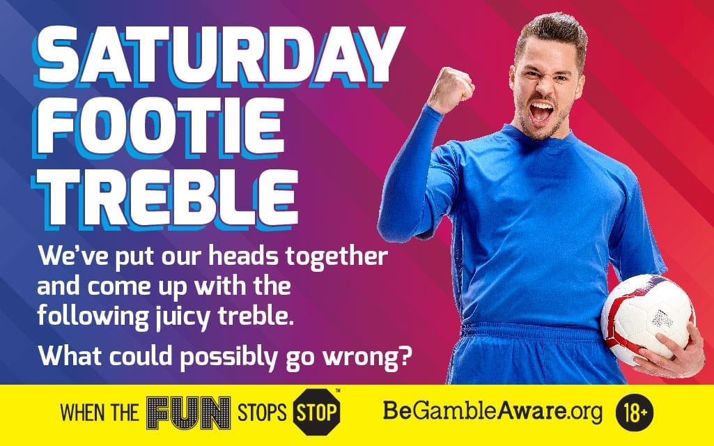 11/2 Saturday Footie Treble!