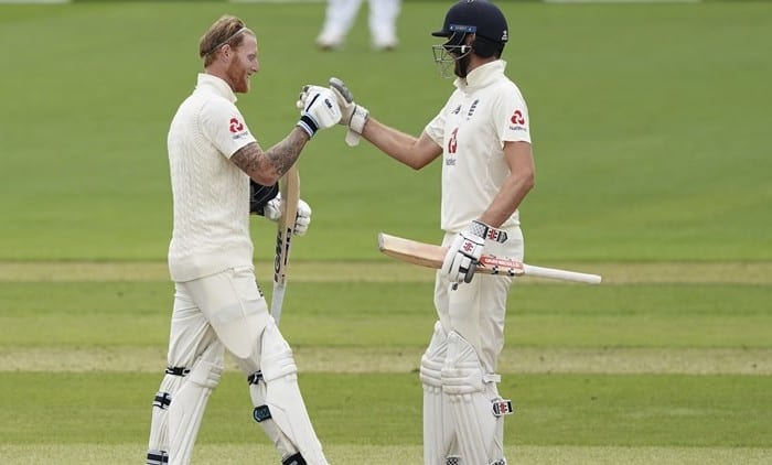 Ben Stokes and Dom Sibley