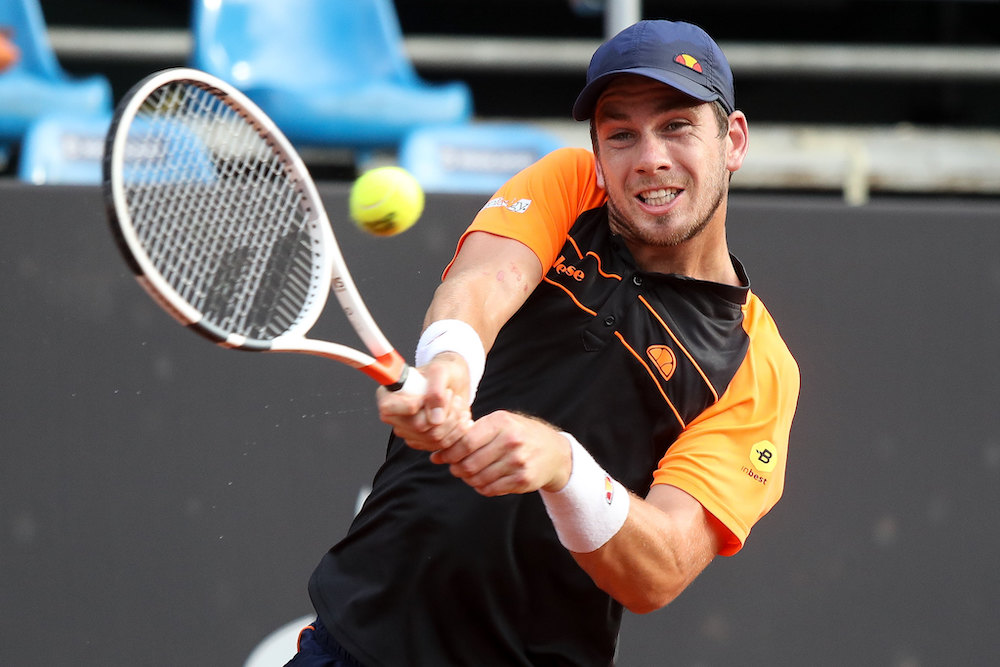 Norrie got the better of Evans in the first round of the Australian Open.
